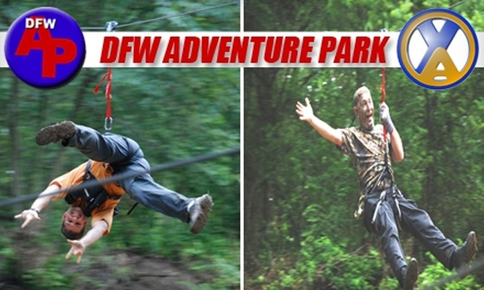 DFW Adventure Park - Justin-Roanoke: $20 for Individual Admission to the Two-Hour Zip-Line Tour at DFW Adventure Park in Roanoke ($45 Value)