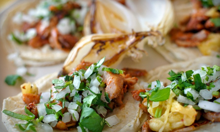 Tacos y Tortas Adrian - Multiple Locations: $10 for an Authentic Mexican Dinner for Two at Tacos y Tortas Adrian