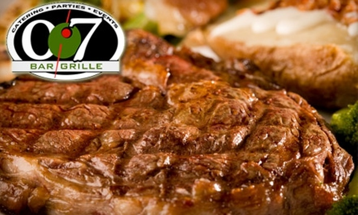 007 Bar and Grille - North Kingstown: $10 for $20 Worth of Cuisine at 007 Bar and Grille
