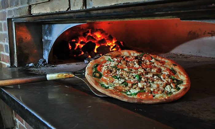 Russo's Coal Fired Italian Kitchen - Corpus Christi: Pizza Meal for Two or Four with Salad at Russo's Coal Fired Italian Kitchen (Up to 54% Off)