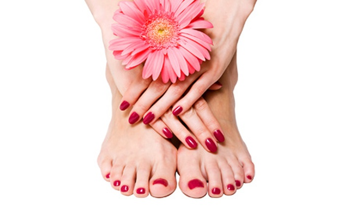 Nyce Nails - West Avenue: Gel Manicure with Spa Pedicure, Two Express Pedicures, or Gel Nails with Designs at Nyce Nails (Up to 52% Off)