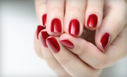 Complete Peppermint Spa Package (a $75 value): 30-Min Peppermint Mani and 60-Min Peppermint Spa Pedi - Sanctuary Hair Salon & Day Spa in Easton