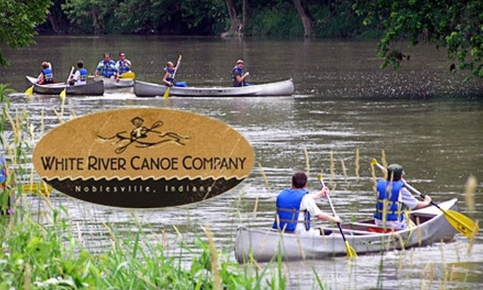 White River Canoe Company - Noblesville: $21 for a Two- to Three-Hour Canoe or Kayak Trip with White River Canoe Company (Up to $44.94 Value)