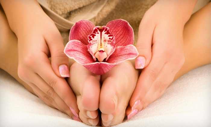 Spa Cafe - Grey Gables/Bon Air: One, Three, or Five Deluxe Manicures and Express Spa Pedicures at Spa Cafe (Up to 63% Off)