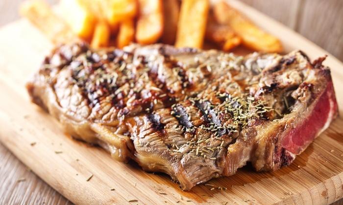 Menu con antipasto, 1 kg di carne, dolce e calice di vino per 2 persone al Ristorante Viotti (sconto fino a 62%)
