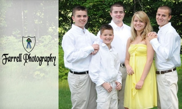 """Farrell Photography - Amherst: $69 for an On-Location Photo Shoot, Six 4""""x5"""" Prints, a DVD Slideshow, and Online Viewing of Images from Farrell Photography ($270 Value)"""