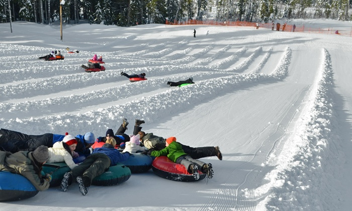 Mt. Hood Skibowl - Mount Hood: Nighttime Cosmic Tubing or Daytime Tubing for Two or Four at Mt. Hood Skibowl (Up to 58% Off)
