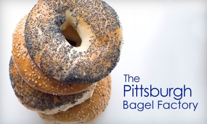 The Pittsburgh Bagel Factory - Multiple Locations: $10 for $20 Worth of Bagels and More at The Pittsburgh Bagel Factory