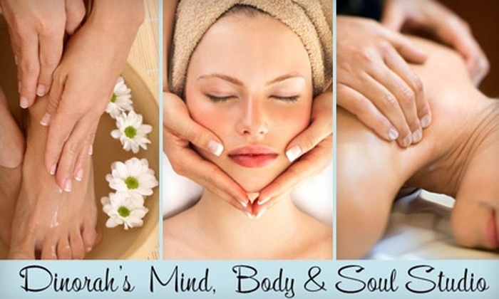 Dinorah's Mind, Body & Soul Studio - Sherwoods Manor: $29 for a 20-Minute Massage, 20-Minute Facial, and 20-Minute Manicure or Pedicure at Dinorah's Mind, Body & Soul Studio ($80 Value)