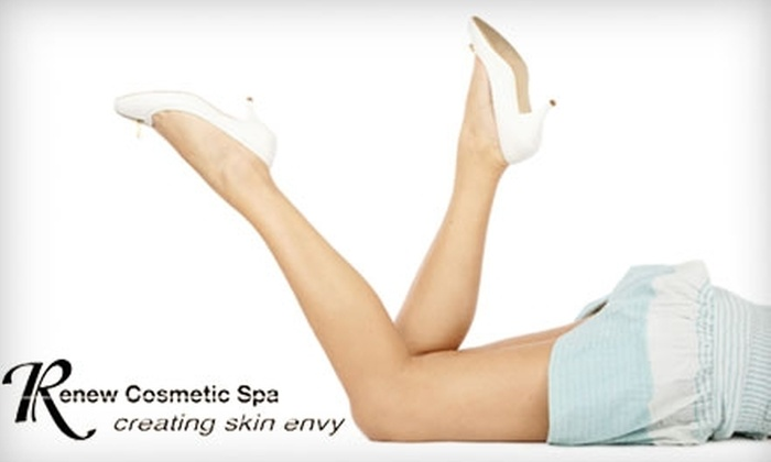 Renew Cosmetic Spa - Multiple Locations: Six Laser Hair-Removal Treatments at Renew Cosmetic Spa (Up to $3,300 Value). Choose Between Two Options.