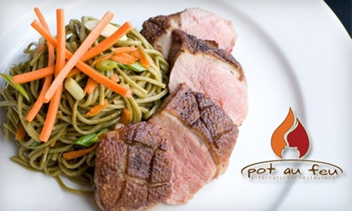 The Pot Au Feu - Downtown El Paso: Half Off Eclectic International Fare at The Pot Au Feu. Choose Between Lunch or Dinner.