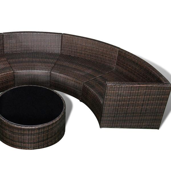 Salon de jardin demi cercle en rotin dès 349,90€ (jusqu\'à 56% de réduction)