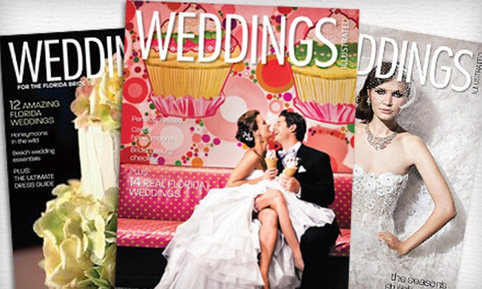 """Weddings Illustrated - Old Naples: $6 for a One-Year Subscription to """"Weddings Illustrated"""" ($13.90 Value)"""