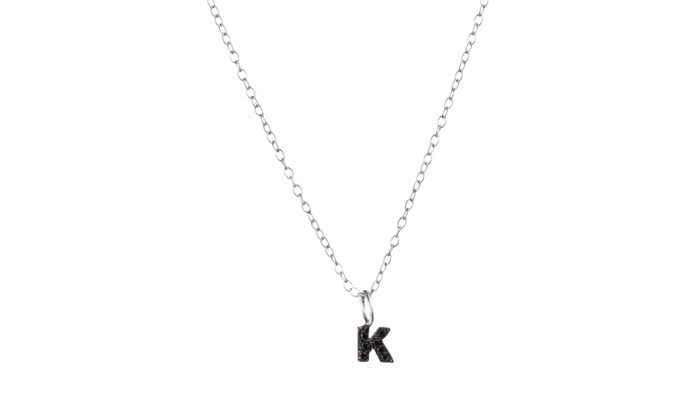 Personalized Sterling Silver Necklace with One, Two, Three, Four, or Five Stone Letters from Luce Mia (Up to 71% Off)