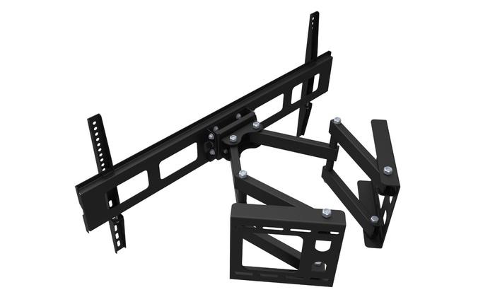 gforce articulating dual arm corner tv wall mount for 37. Black Bedroom Furniture Sets. Home Design Ideas