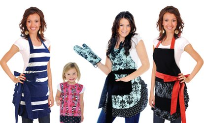image for $15 for $30 Worth of Aprons, Bibs, and Kitchen Gloves from Flirty Aprons