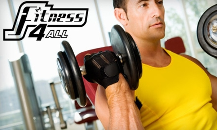 Fitness 4 All - Multiple Locations: Fitness Package at Fitness 4 All. Two Options Available.