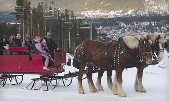 Breckenridge Stables - Breckenridge: Scenic Sleigh Ride with Hot Cocoa for Two or Four at Breckenridge Stables (Up to 55% Off)