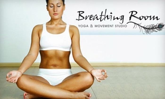 Breathing Room Yoga and Movement Studio - South Portland: $45 for 10-Class Pass to Breathing Room Yoga & Movement Studio ($100 Value)