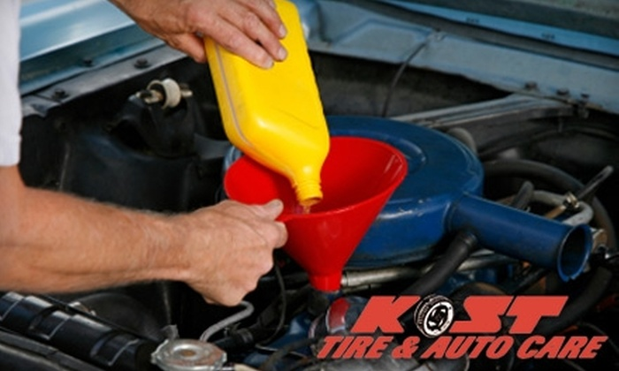 Kost Tire and Auto Care - Colonie: $15 for a Standard Oil Change at Kost Tire and Auto Care ($29.95 Value)