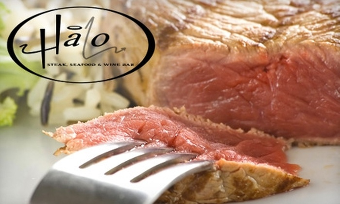 Halo Steak Seafood & Wine Bar - Lake Bonavista: $20 for $40 Worth of Dinner at Halo Steak Seafood & Wine Bar (or $10 for $20 Worth of Lunch)