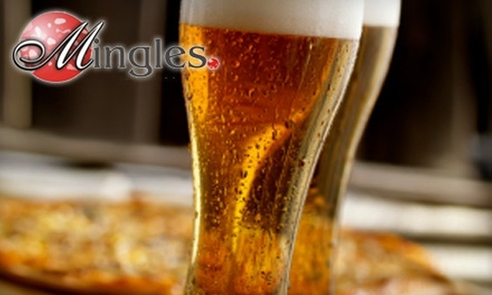 Mingles Grill - Jenkins Subdiv., Pinecroft Subdiv.: $10 for $20 Worth of Pub Fare and Drinks at Mingles Grill