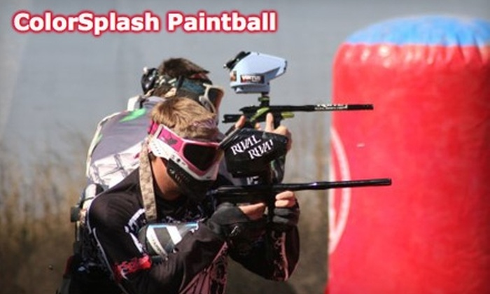 ColorSplash Paintball - Multiple Locations: $16 for a Full Day of Paintball, Equipment, and 500 Paintballs at ColorSplash Paintball ($32.50 Value)