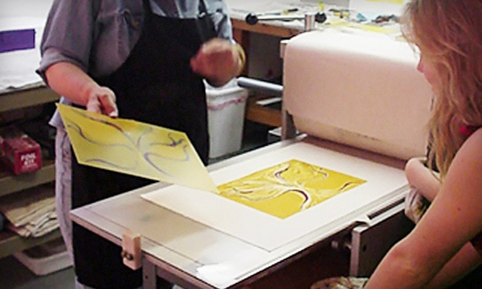 New Grounds Print Workshop & Gallery - Nob Hill: One or Two Five-Hour Private Printmaking Workshops at New Grounds Print Workshop & Gallery (Up to 55% Off)