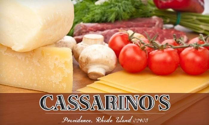 Cassarino's Ristorante - Federal Hill: $20 for $40 worth of Italian Fare and Drinks at Cassarino's Ristorante