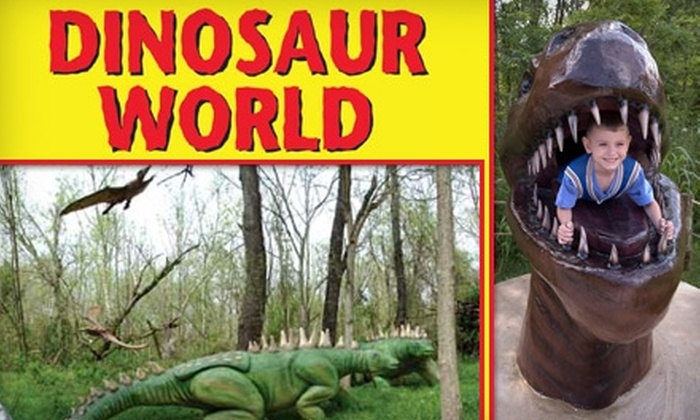 Dinosaur World - Cave City: Ticket to Dinosaur World. Choose from Two Ticket Options.
