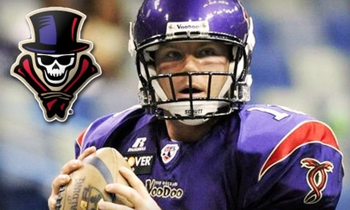 New Orleans VooDoo - Central Business District: Season Tickets for the AFL's New Orleans VooDoo. Choose Between Two Options.