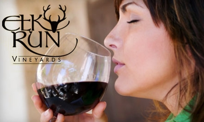 Elk Run Vineyards - 19, Linganore: $25 for a Wine Tasting for One at Elk Run Vineyards in Mt. Airy, MD ($50 Value)