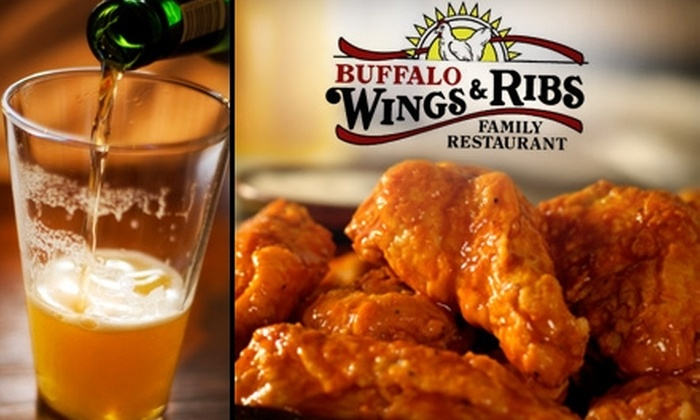 Buffalo Wings and Ribs Family Restaurant - Multiple Locations: $7 for $15 Worth of Casual Fare at Buffalo Wings and Ribs Family Restaurant