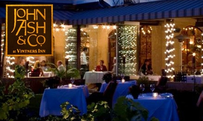 John Ash and co - Santa Rosa: $37 for $75 of Wine Country Cuisine and Fine Wine at John Ash & Co.