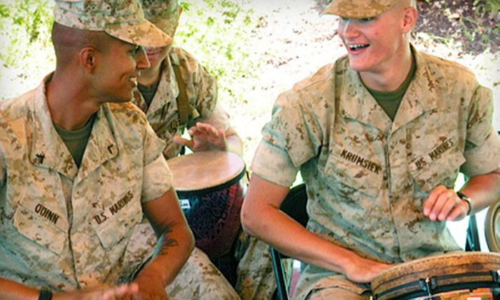 Resounding Joy - Carmel Valley: If 35 People Donate $10, Then Resounding Joy Can Purchase One Hapi Drum for Its Military Music Program