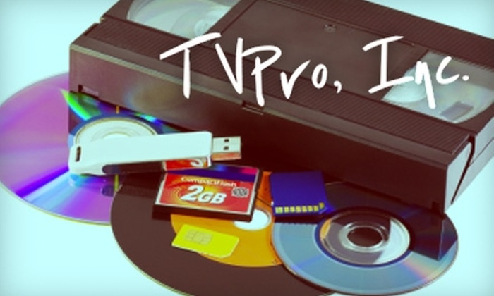 TVPro - Soulard: $15 for $35 Worth of VHS, Cassette, Slide, Film, and Photo Conversion to DVD, Hard Drive, and More at TVPro