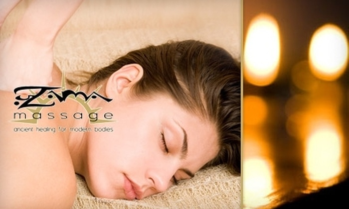 Zama Massage - Grant Park: $45 for One of Four One-Hour Massages and Aroma Oil Treatments from Zama Massage