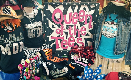 One Design-Your-Own Sparkly Short-Sleeved T-Shirt (a $20.95 value) - Queen of the Tees in Newcastle
