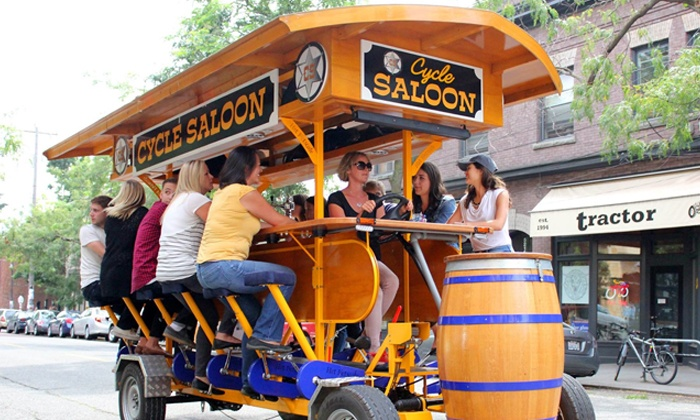 Cycle Saloon - Cycle Saloon: Pub-Crawl Ride for Up to 16 People from Cycle Saloon (Up to 52% Off). Two Options Available.