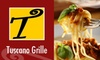 Tuscano Grille(CLOSED) - Clearwater: $15 for $30 Worth of Contemporary Italian Cuisine and Bar Drinks at Tuscano Grille