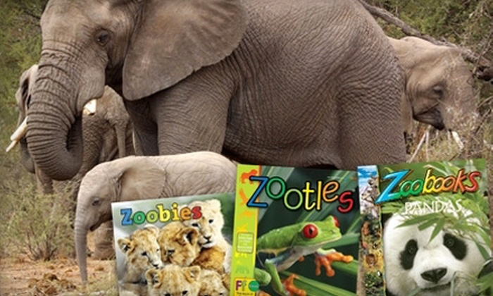 """""""Zoobooks"""" Magazine: $15 for a One-Year Subscription to """"Zoobooks,"""" """"Zoobies,"""" or """"Zootles"""" Magazine ($29.95 Value)"""