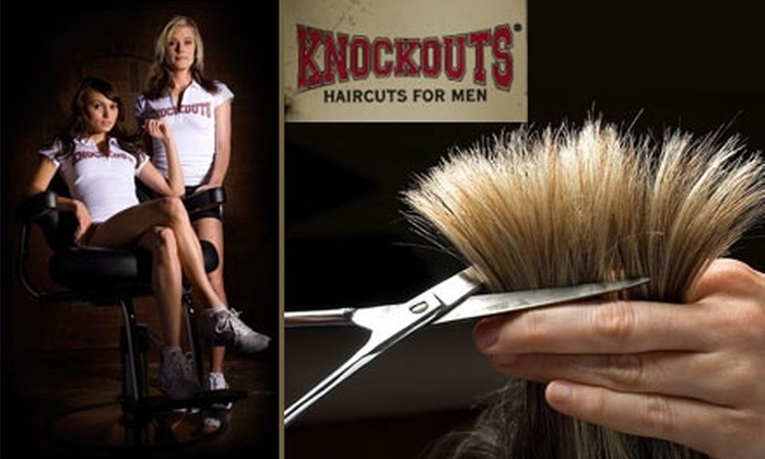Knockouts Haircut and Grooming for Men - Parker: $10 for Top Contender Heavyweight Haircut at Knockouts Haircuts for Men ($25 value)
