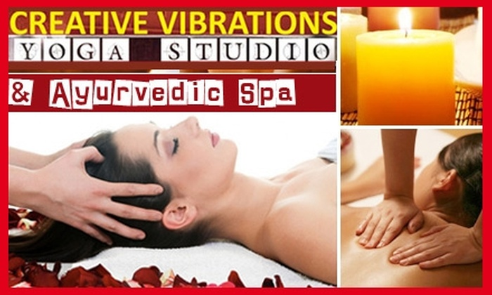 Creative Vibrations Yoga Studio - Ditmars Steinway: $45 for a 90-Minute Ayurvedic or Swedish/Deep-Tissue Massage at Creative Vibrations Yoga Studio ($105 Value)