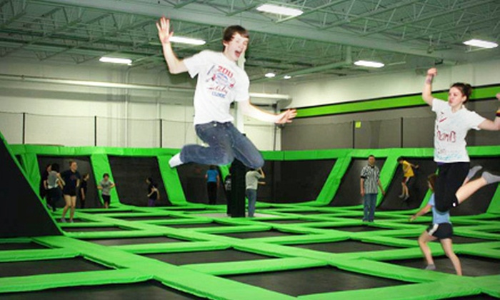 Zero Gravity  - Mounds View: One- or Two-Hour Trampoline Session for Two at Zero Gravity in Mounds View (Half Off)