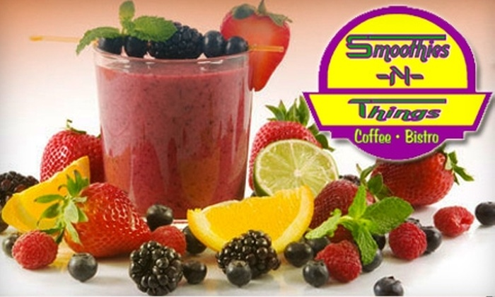 Smoothies-N-Things Café - Downtown Montgomery: $5 for Two 24-Ounce Smoothies at Smoothies-N-Things Café ($9.28 Value)