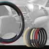 "Premium Genuine Full-Grain Leather 15"" Steering Wheel Cover"