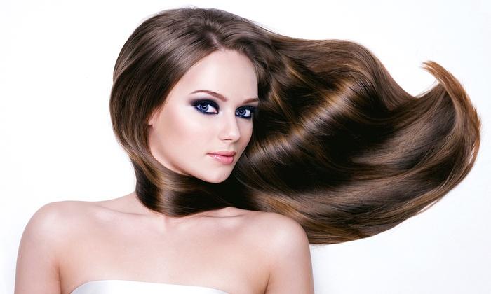 KB Hair & Makeup - Carmel: Keratin Express Smoothing Treatment or Keratin Express Treatment with Haircut at KB Hair & Makeup (60% Off)