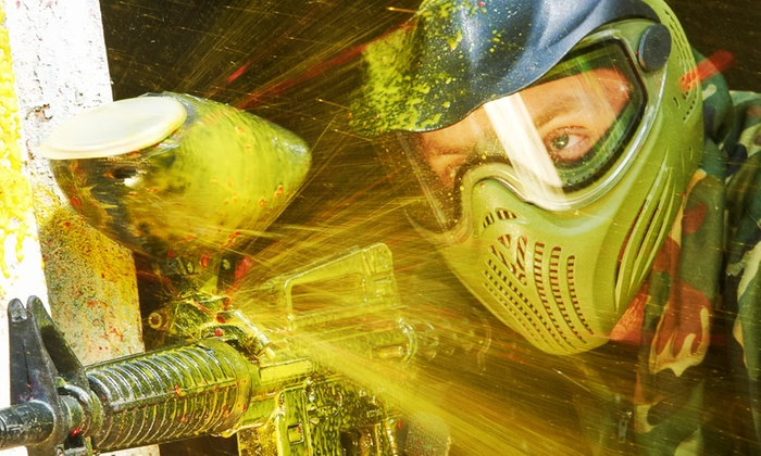 Paintballing with 100 Balls and Pizza for Up to 15 People at Skirmish Central (Up to 85% Off)