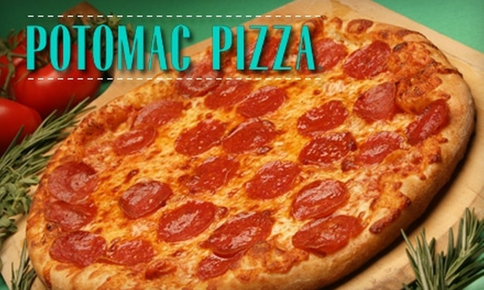 Potomac Pizza - Multiple Locations: $20 for Two Pizzas of Your Choice at Potomac Pizza (Up to $45.98 Value)