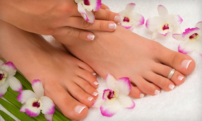 Above and Beyond Hair and Nail Salon - Leominster: One or Three Mani-Pedis at Above and Beyond Hair and Nail Salon in Leominster (Up to 53% Off)
